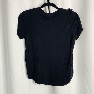 H&M Tops - H&M Black ruffle front blouse S